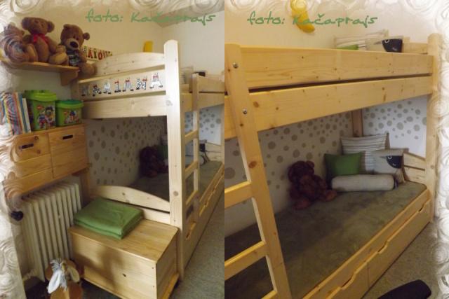 Koutek v obývacím pokoji, časem dětem uvolníme ložnici a my se přestěhujeme do toho to koutku. - Obrázek č. 1
