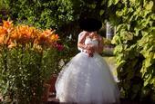 Svatební šaty krémové 38-42, 38