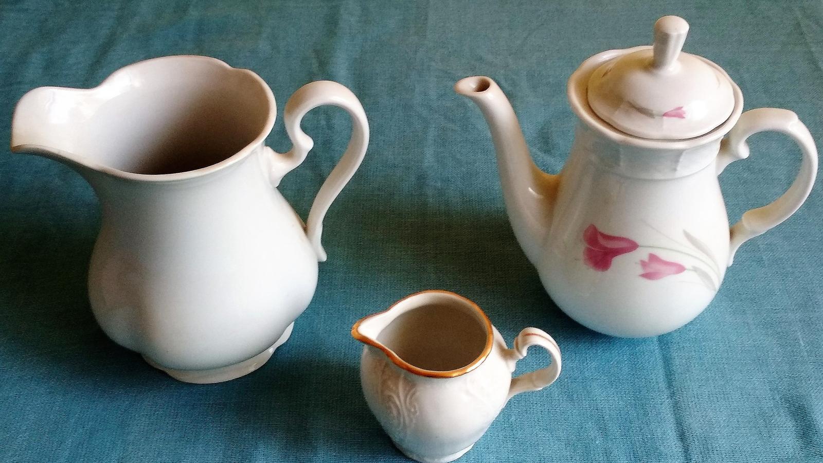 Čajník, krčah na mlieko, smotanu - Obrázok č. 1
