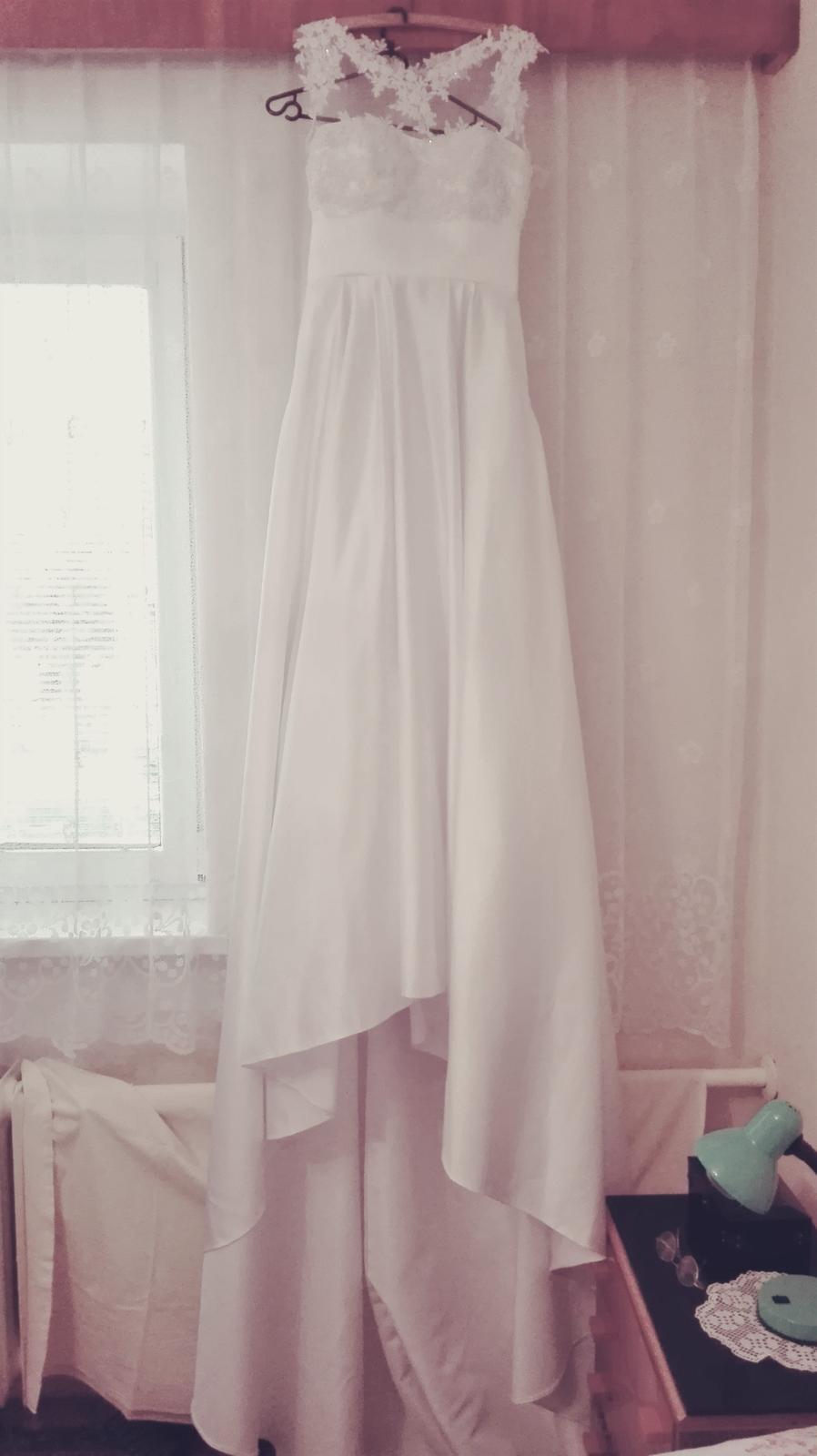 Ručne šité svadobné šaty 38-40 - Obrázok č. 1