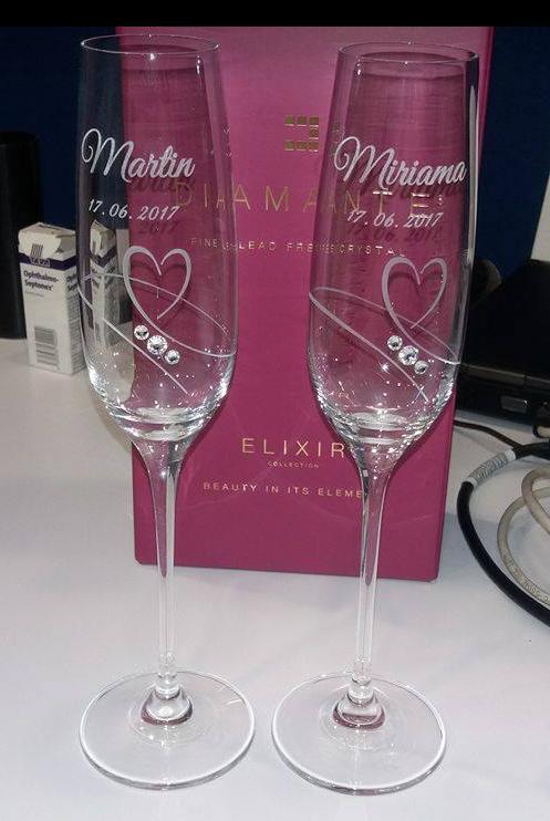 Naše prípravy :) - poháre :) špeciálne sme ich nehľadali až na FB nám raz vyskočilo reklama na diamantiera..láska na prvý pohľad :)