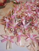 Krémovo-ružové pierka,