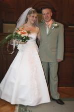 Po obřadě-1. společná manželská fotka