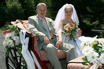 V kočáře ( svatební dar od švagrové)