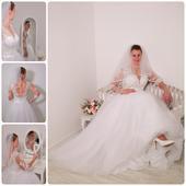 nádherné svadobné šaty veľkosť 42, 42