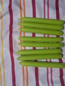 Kónické zelené svíčky,