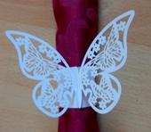 Papírové spony na ubrousky Motýli,