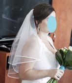 Svatební závoj se saténovým lemem,