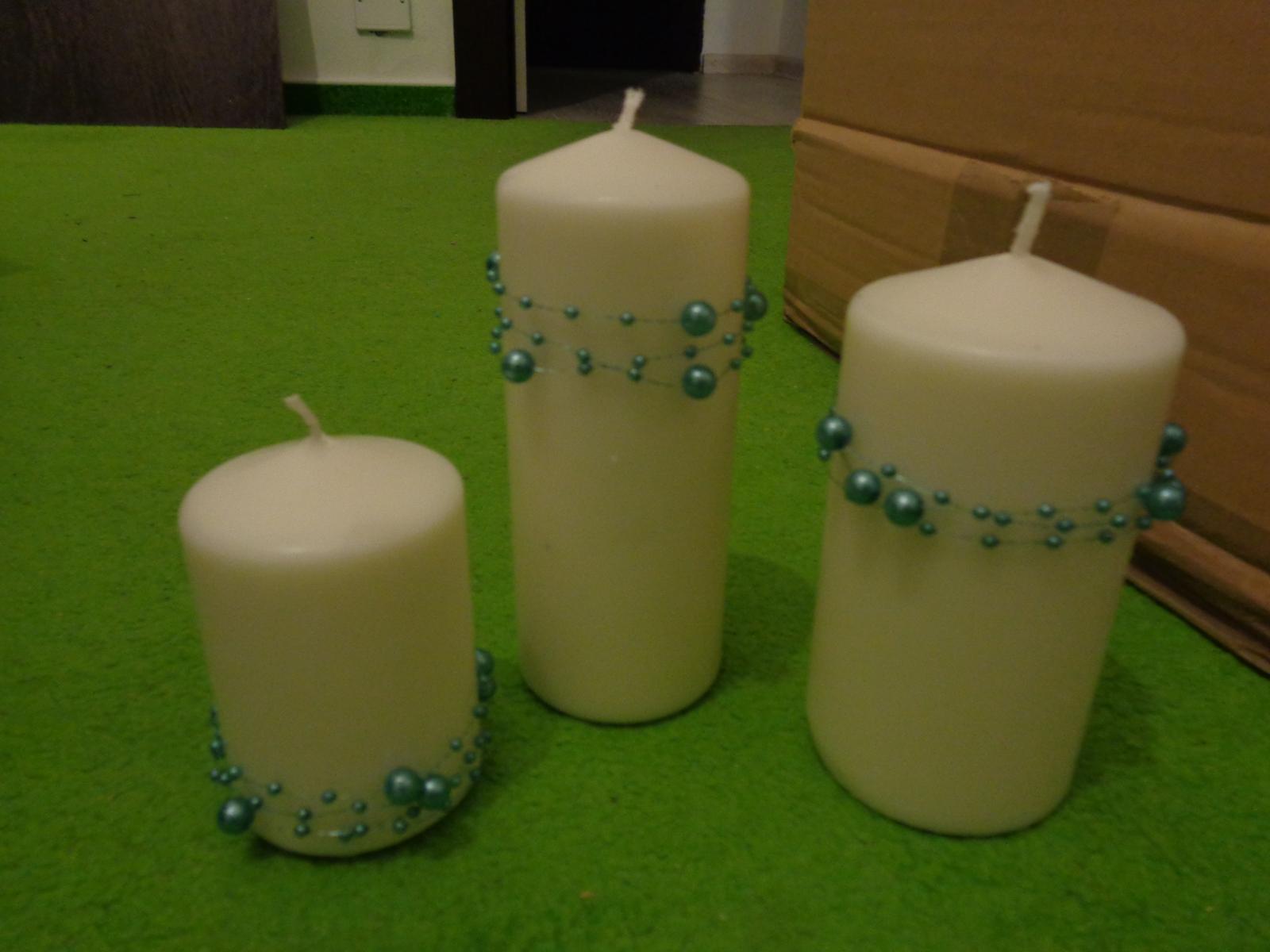 Svíčky s kamínky - Obrázek č. 1