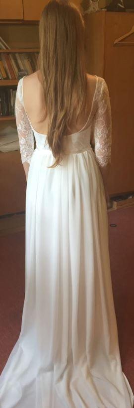 Něžné svatební šaty + zdarma závoj - Obrázek č. 1