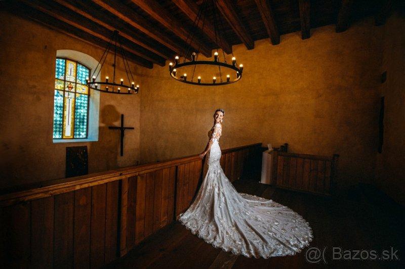 Svadobné šaty s očarujúcou vlečkou - Obrázok č. 2