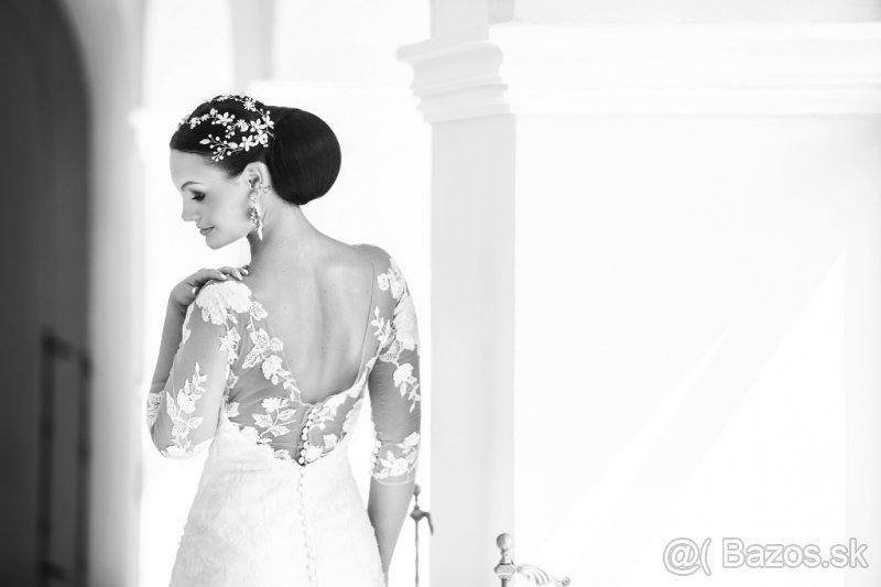 Svadobné šaty s očarujúcou vlečkou - Obrázok č. 4