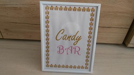 """rám s nádpisom """"Candy bar"""" - Obrázok č. 1"""