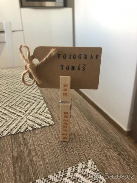 Dřevěné kolíky Děkujeme H&M - Obrázek č. 1