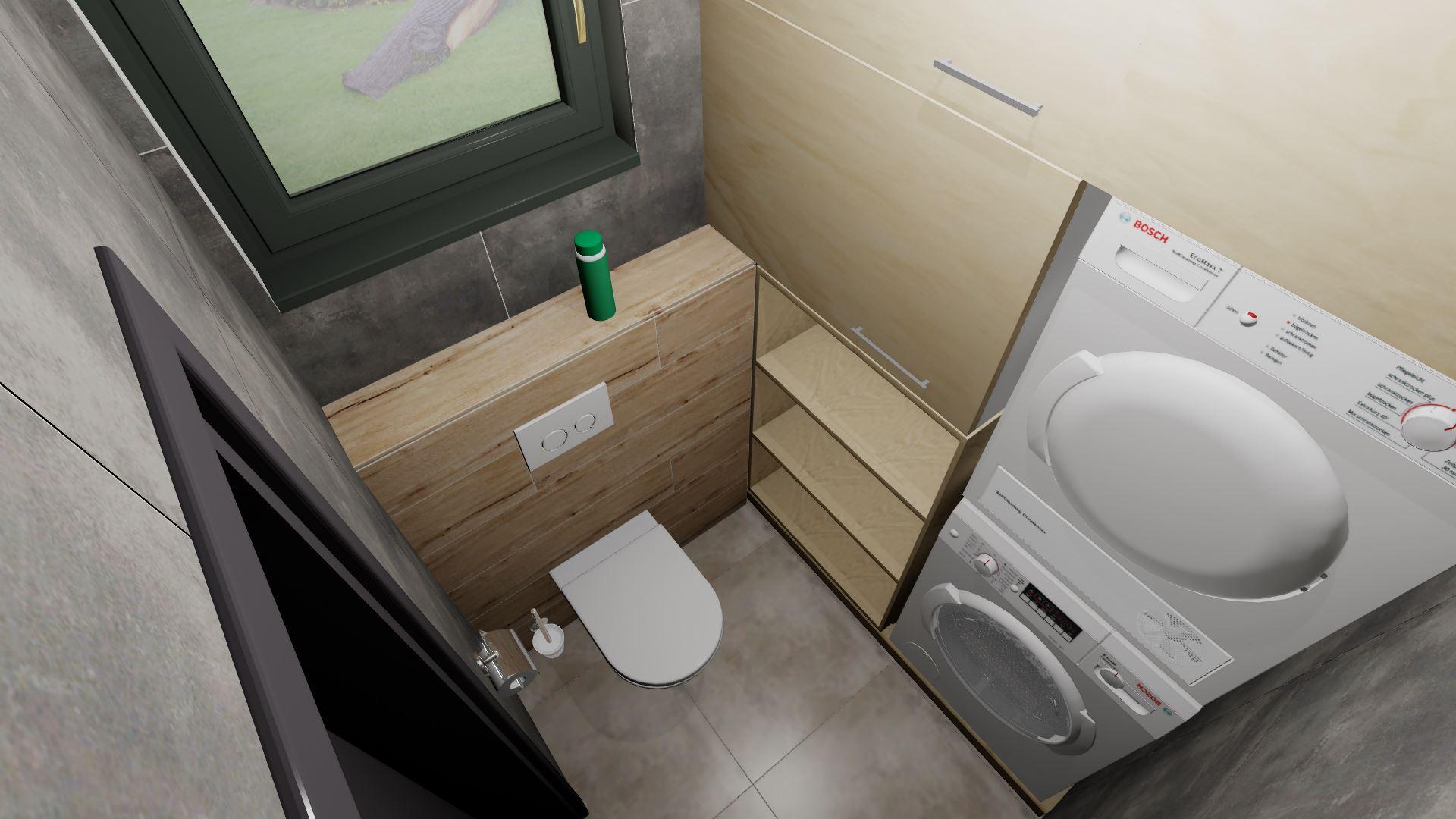 Komora/prádelna + soukromé WC rodičů - Obrázek č. 3