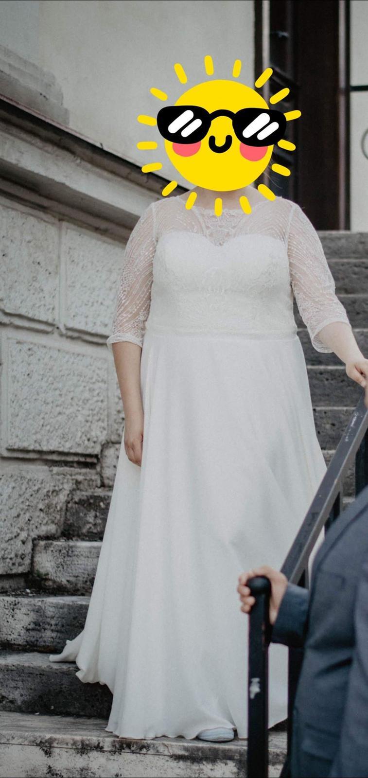 Nádherné svadobné šaty 44/46 - Obrázok č. 1