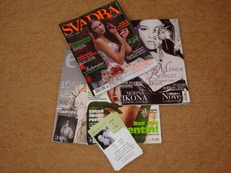 M+B=♥ - inšpirácie z časopisov + naše oznámko