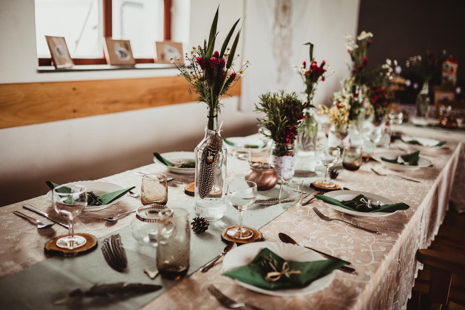 Svatební dekorace lesní boho rustik svatba výzdoba - Obrázek č. 1