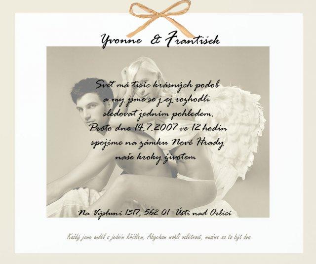 My :-) Lucka+Janik - Dobrý namet na svad. oznámeie..sa mi pačill