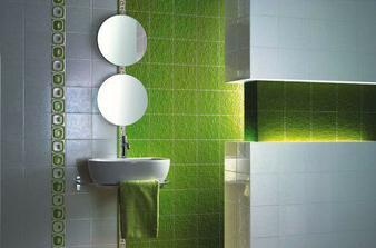 krasna zelena koupelna, nekomu jsem ji ukradla z alba, ale moc se mi libi