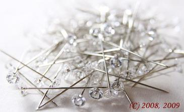 """špendlík """"diamant"""" - koupené, vypadají fakt luxusně..."""