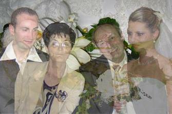 koláž s Marekovimi rodičmi