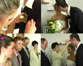 výmena pierka za kytičku a požehnanie :)