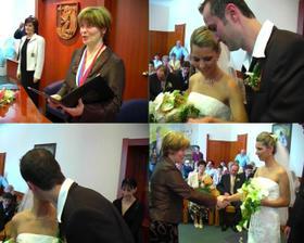 spečatené bozkom a prvá gratulácia od oddávajúcej poslankyne