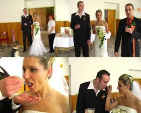 privítanie a prípitok a manželstvo sladké ako tento cukor nám zaželali