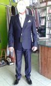 Oblek - slim - tmavomodrý, 56