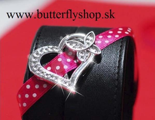 butterflyshop - Dekoračné srdiečko - akrylové