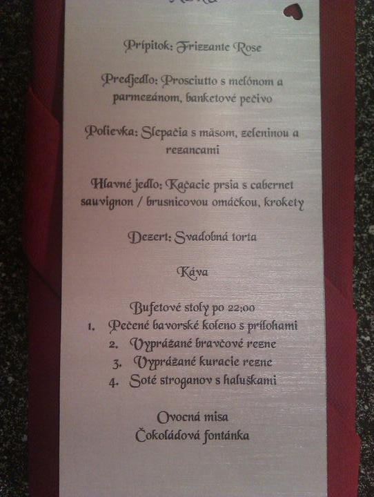 """Ajka&Jojko - o chvíľu si povieme """"áno""""...:) - Naše menu...:D"""