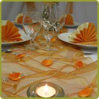 oranžovo-žltá výzdoba