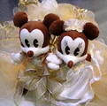 Mickey a Minie, zlate na tortu