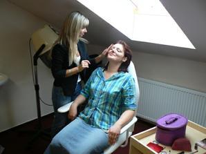 Příprava v salonu