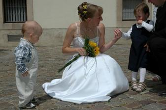 Nejmladší účastníci naší svatby