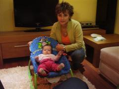 Lara s maminkou