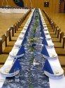 Moje sny o svadbe,inspiracia - prestrety stol do modrej barvy
