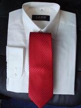ženichova košile a kravata - oblek se šije