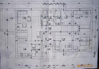 Projekt nášho domčeka ... prispôsobený pozemku podľa nášho návrhu :)