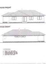 Pohľad na náš domček .. čierna strecha ... a omietka bude s veľkou pravdepodobnosťou nejaká bledá a k tomu tmavý obklad :)