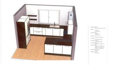 Chceli sme barový pult .. ale kedže hneď za linkou budú stoličky a stôl tak sme ho zrušili a projektant nám navrhol rozšírenie konca linky na 2 skrinky .. čiže s oboch strán bude úložný priestor a bude mať aspoň širšiu pracovnú dosku na tom kraji :D