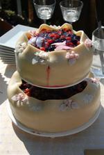 svatební dortíček mňaaaaaaaaam