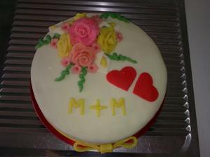 naša zasnubna tortička vlastna vyroba
