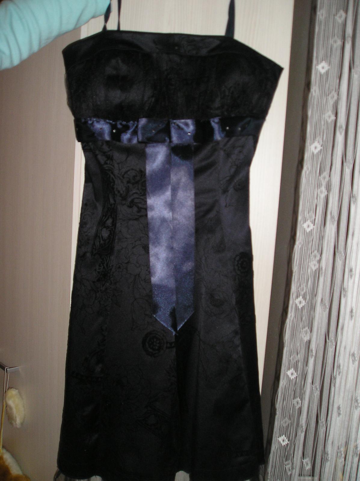 Tmavomodré krátke šaty - Obrázok č. 1