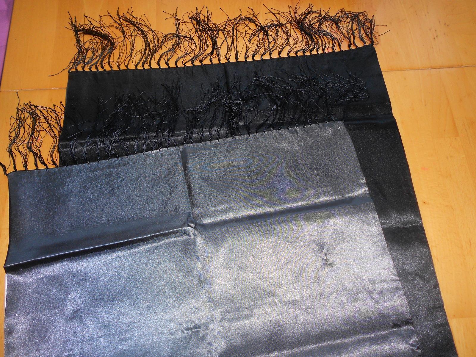 Čierna pašmína/štóla s poštovným - Obrázok č. 1
