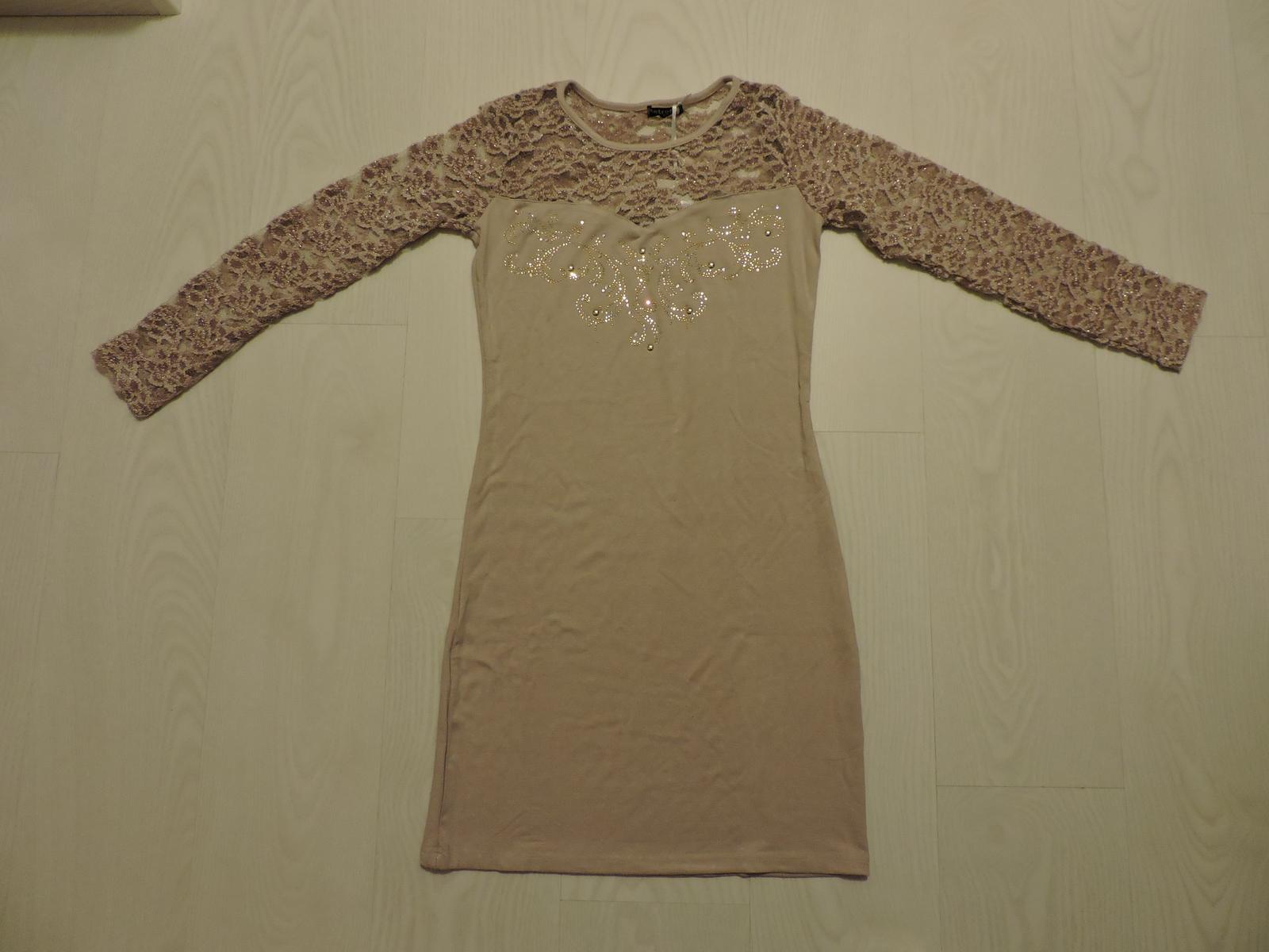 Bledohnedé šaty štovným - Obrázok č. 1