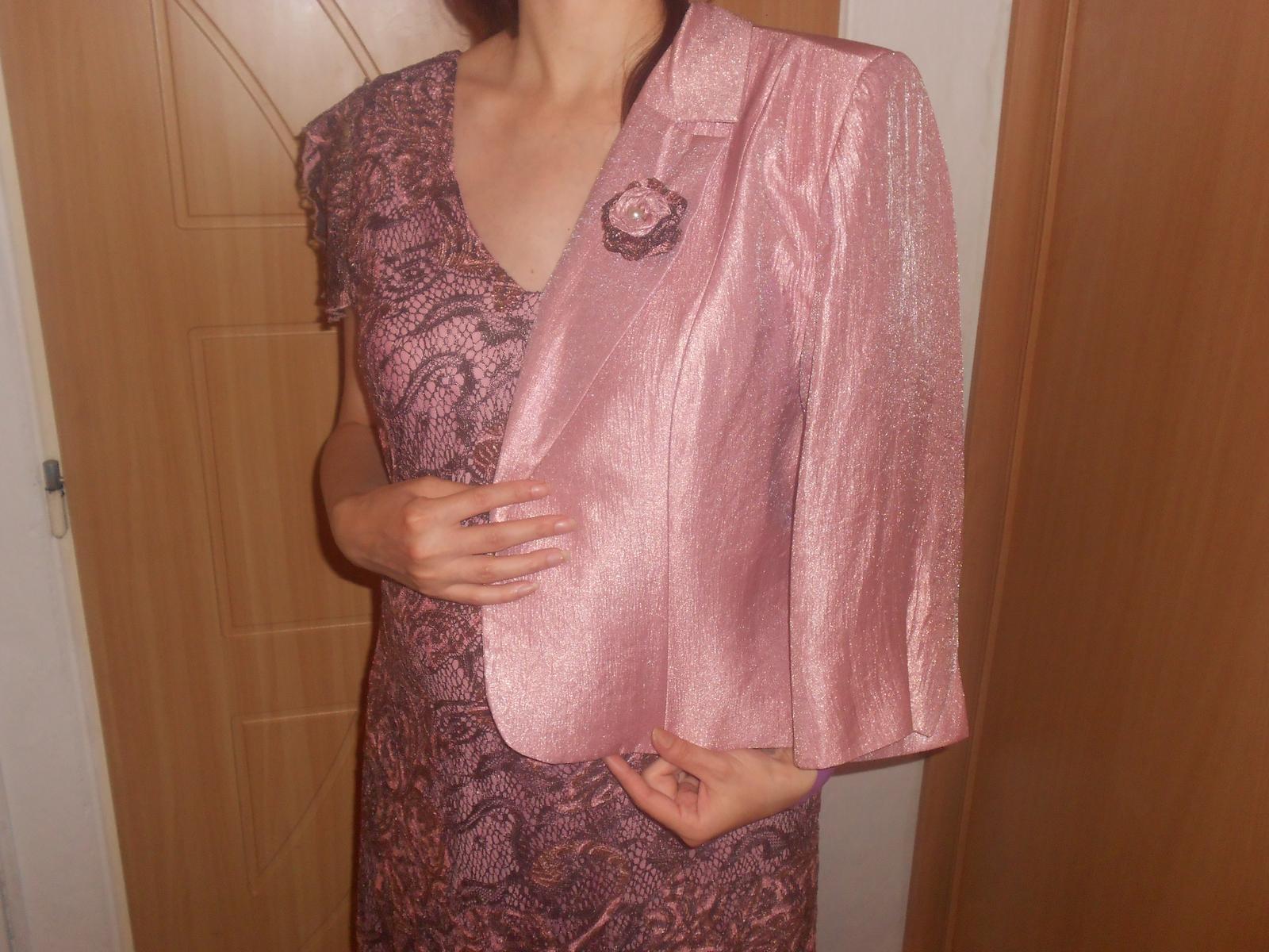 Staroružové šaty + kabátik s poštovným - Obrázok č. 1
