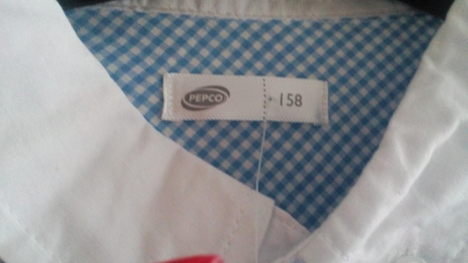 Nenosena bledomodro-biels košeľa s poštovným - Obrázok č. 2