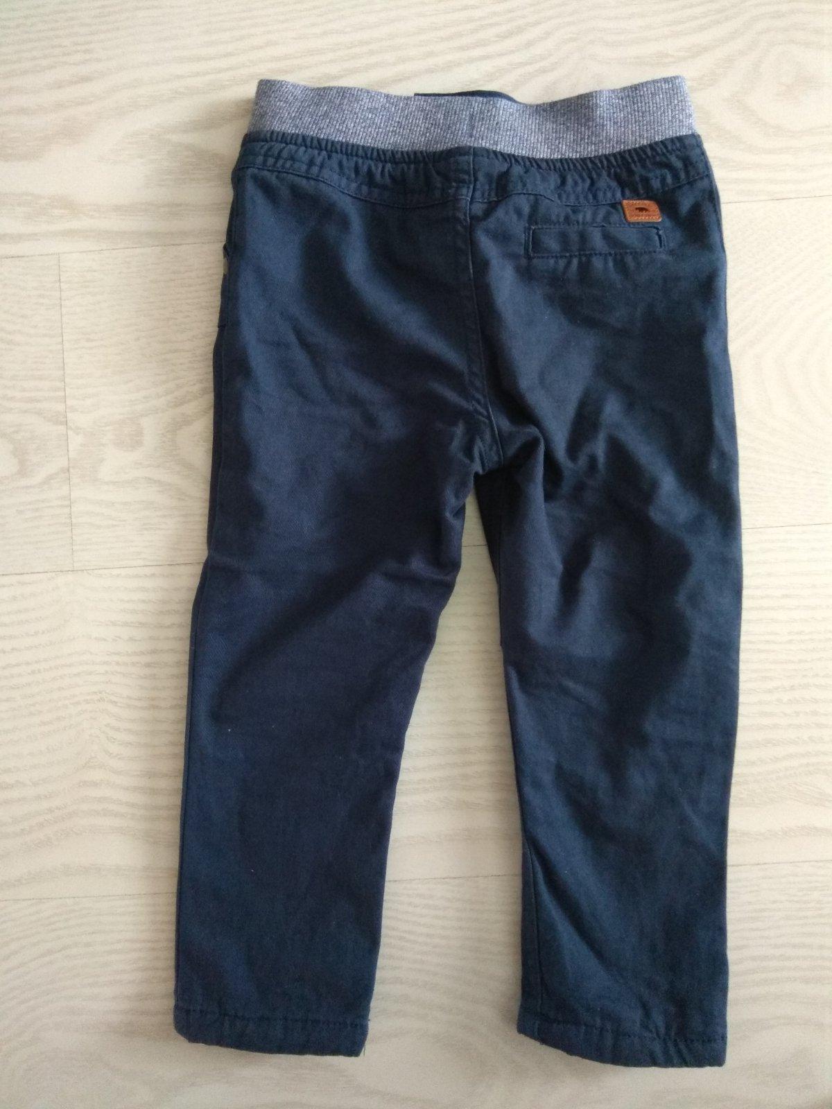 Zateplené tmavomodré nohavice s poštovným - Obrázok č. 4